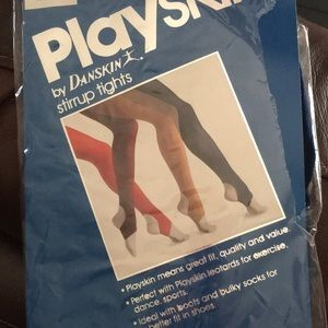 Playskin by Danskin stirrup tights NEW